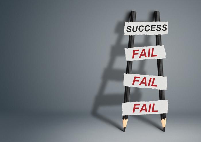 失敗を消去する