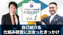 仕組み経営Podcast vol1 自己紹介&仕組み経営に出会ったきっかけ
